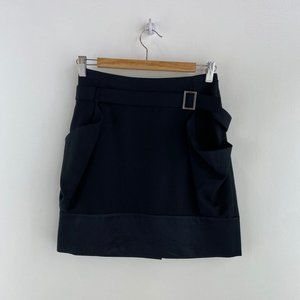 TED BAKER Belted Skirt With Satin Hem NWT